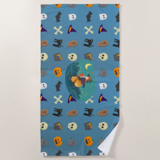 Witch for child beach towel
