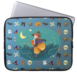 Witch for child laptop sleeve