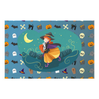 Witch for child stationery