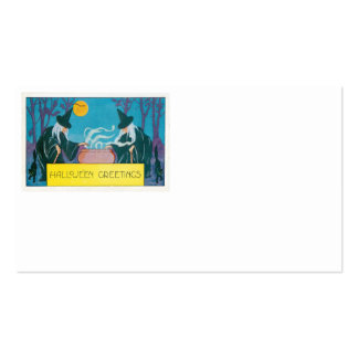 Witch Full Moon Cauldron Night Black Cat Pack Of Standard Business Cards