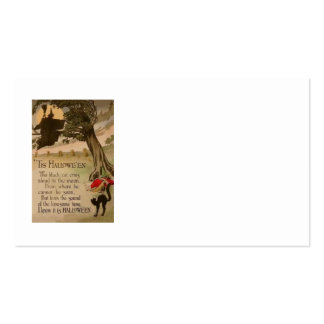 Witch Full Moon Pumpkin Black Cat Business Cards