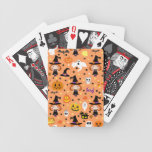 Witch Girl Halloween Pattern Bicycle Poker Deck