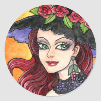 Witch Gothic Sticker by Ann Howard