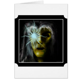 Witch (green) greeting card