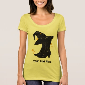Witch Halloween Enchanted Witches Custom Gold T-Shirt