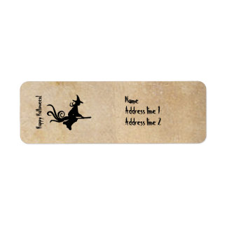 Witch Halloween Parchment Address Labels
