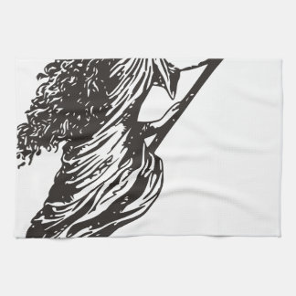 witch hand towel