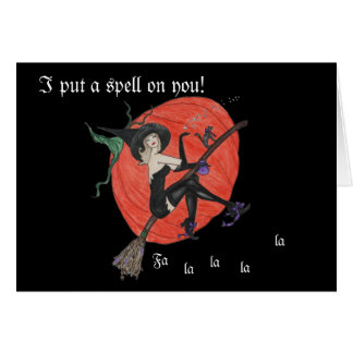 Witch Happy Halloween Spell Card