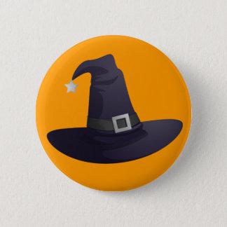 Witch Hat 2 Inch Round Button
