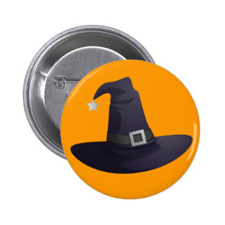 Witch Hat 2 Inch Round Button