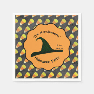 Witch Hat & Candy Corn Napkin Paper Napkins