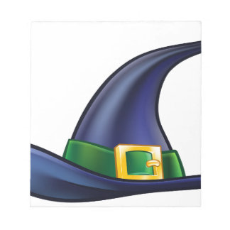Witch Hat Halloween Illustration Notepad