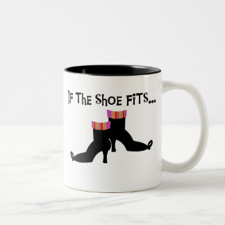 Witch If the Shoe Fits Two-Tone Mug