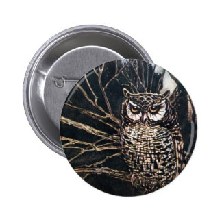 Witch in Owl Form 2 Inch Round Button
