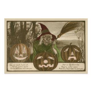 Witch Jack O' Lantern Pumpkin Goblin Photo