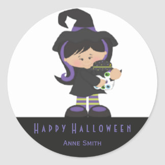 Witch Kids costumes stickers