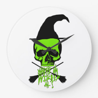 Witch Large Clock