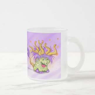 WITCH MONSTER CARTOON Frosted Glass Mug 10 onz