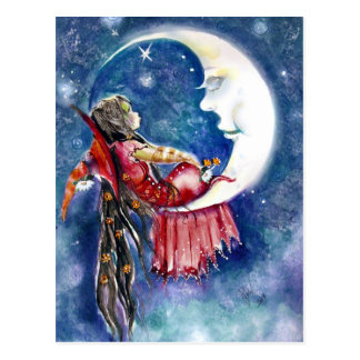 Witch & Moon Postcard
