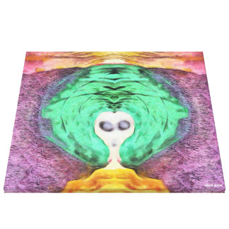 Witch Of Colors Canvas Print