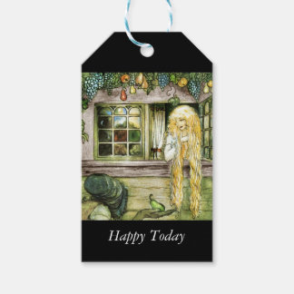 Witch Offering Pear not Apple Pack Of Gift Tags