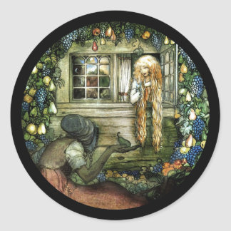 Witch Offering Pear not Apple Round Sticker