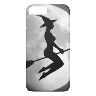 Witch On a Broom Against the Moon iPhone 7 Case