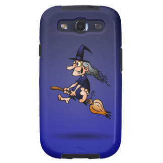 Witch on a broom galaxy SIII cases