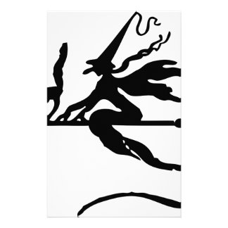 Witch On A Broom Stationery