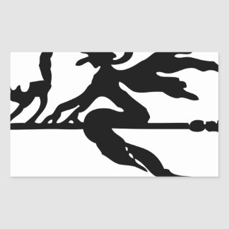 Witch On A Broom Sticker