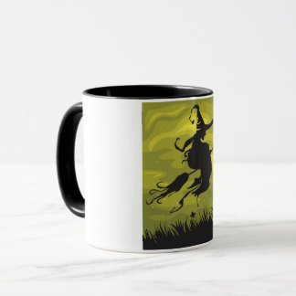 Witch On A Broomstick Mug