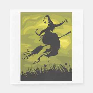 Witch On A Broomstick Paper Napkins