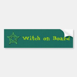 Witch on Board Bumper Sticker