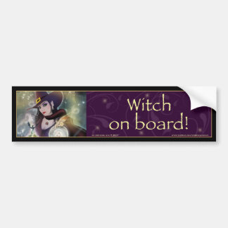 Witch on board - Witch Bumper Sticker