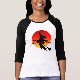 Witch on Broomstick   Funny Halloween Witchcraft T-Shirt