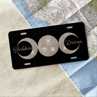 Witch Pagan Wizard Wiccan Triple Moon Goddess Prim License Plate