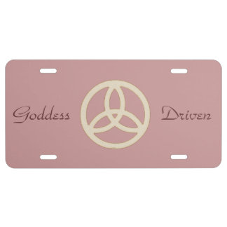 Witch Pagan Wizard Wiccan Triquetra License Plate