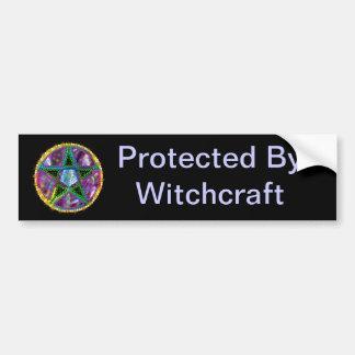 Witch Pentagram Bumper Sticker