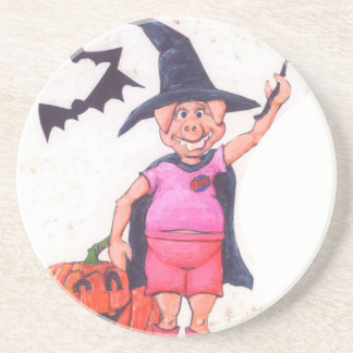 Witch Pig Beverage Coasters