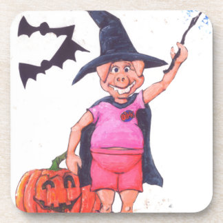 Witch Pig Drink Coasters