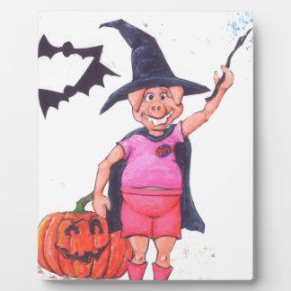 Witch Pig Plaque