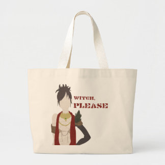 Witch, Please Large Tote Bag