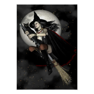 Witch Poster - Witches Night Out A3