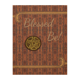 Witch Prim Crescent Moon & Pentacle Sign Wood Canvases