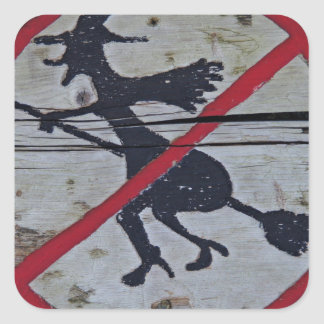 Witch-Prohibition Square Sticker