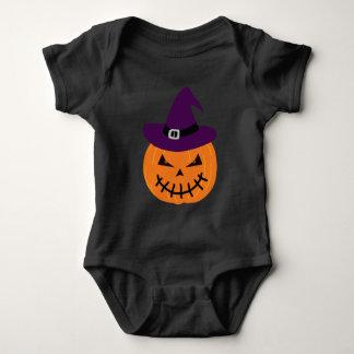 Witch pumpkin baby bodysuit
