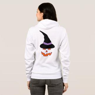 Witch Pumpkin Beauty Zipped Up Hoodie