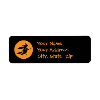 Witch Return Address Label