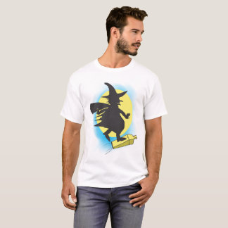 Witch riding a dust vaccum T-Shirt