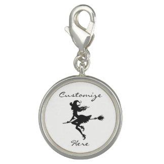 Witch Riding Broom Halloween Thunder_Cove Charm